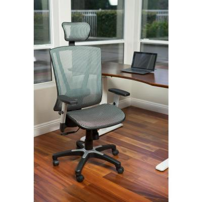 Fully Meshed Ergo Grey Office Chair with Headrest