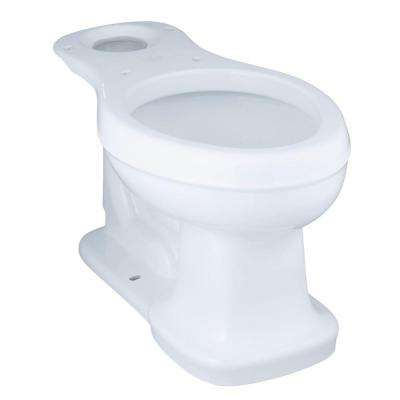 Bancroft Comfort Height Elongated Toilet Bowl Only in White