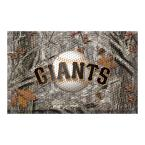 MLB - San Francisco Giants 19 in. x 30 in. Outdoor Camo Scraper Mat Door Mat