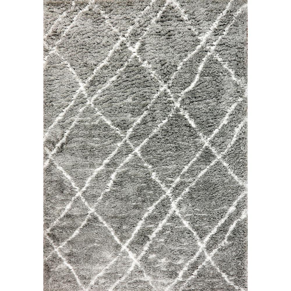 Nordic Grey/Ivory 7 ft. 5 in. x 10 ft. 6 in. Trellis Area Rug