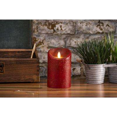 Classic Pillar 3.5 in W x 7 in. H Country Rio Red No Scent