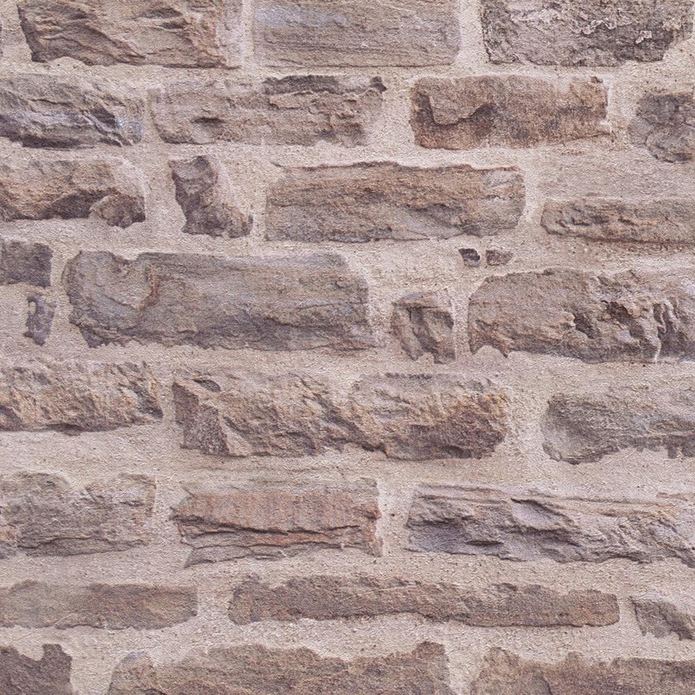 Beige/Brown Brick Wall Design Wallpaper