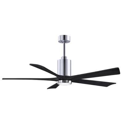 Patricia-5 60 in. Integrated LED Polished Chrome Ceiling Fan with Light Kit