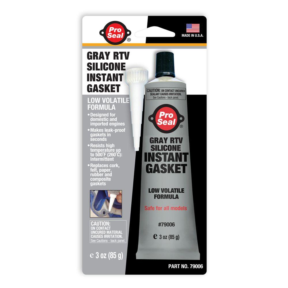 ProSeal 3 oz. Gray RTV Silicone Instant Gasket (12-Pack)
