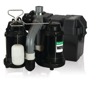 Upgraded 1/2 HP Combination Battery Backup System
