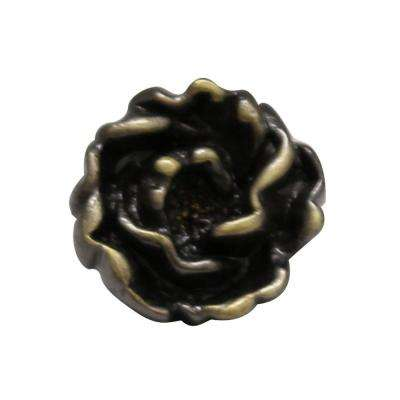 1-1/4 in. Bronze Rosette Shaped Cabinet Hardware Knob