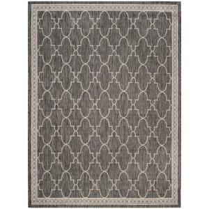 Safavieh Courtyard Black Beige 9 Ft X 12 Ft Indoor