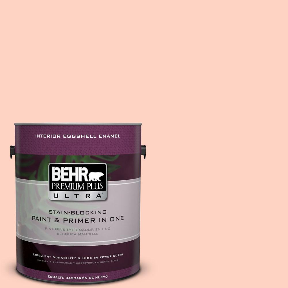 BEHR Premium Plus Ultra 1 gal. #210A-2 Coral Dune Eggshell Enamel Interior Paint and Primer in One
