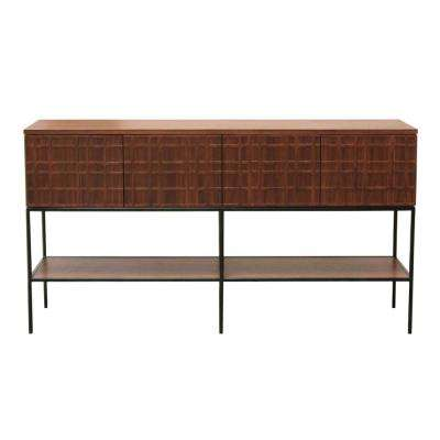 Paloma Moreno Brown/Black Accent Console Table