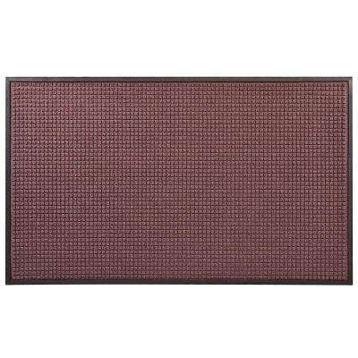 Guzzler Burgundy 36 in. x 120 in. Rubber-Backed Entrance Mat
