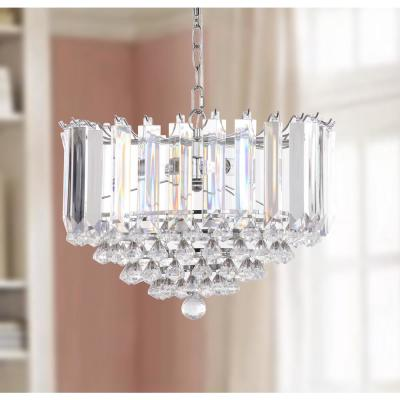 Hampton 2-Light Chrome/Clear Crystal Pendant