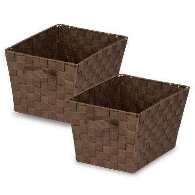 17 Qt. Brown Woven Strap Tote (2-Pack)
