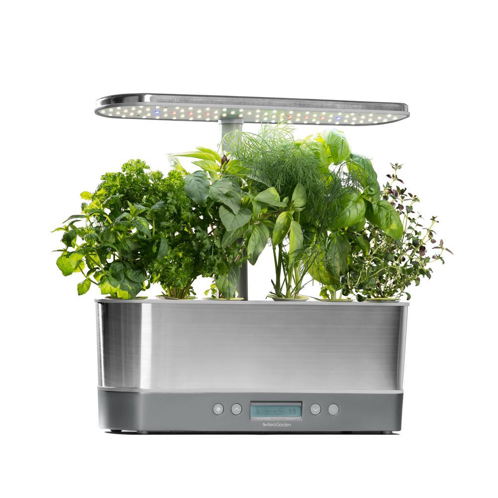 AeroGarden Harvest Elite Slim Stainless Home Garden System