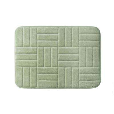 Parqeut 17 in. x 24 in. Bath Rug in Sage