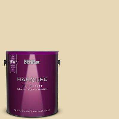 1 gal. #MQ3-42 Tinted to Honey Mist One-Coat Hide Flat Interior Ceiling Paint and Primer in One