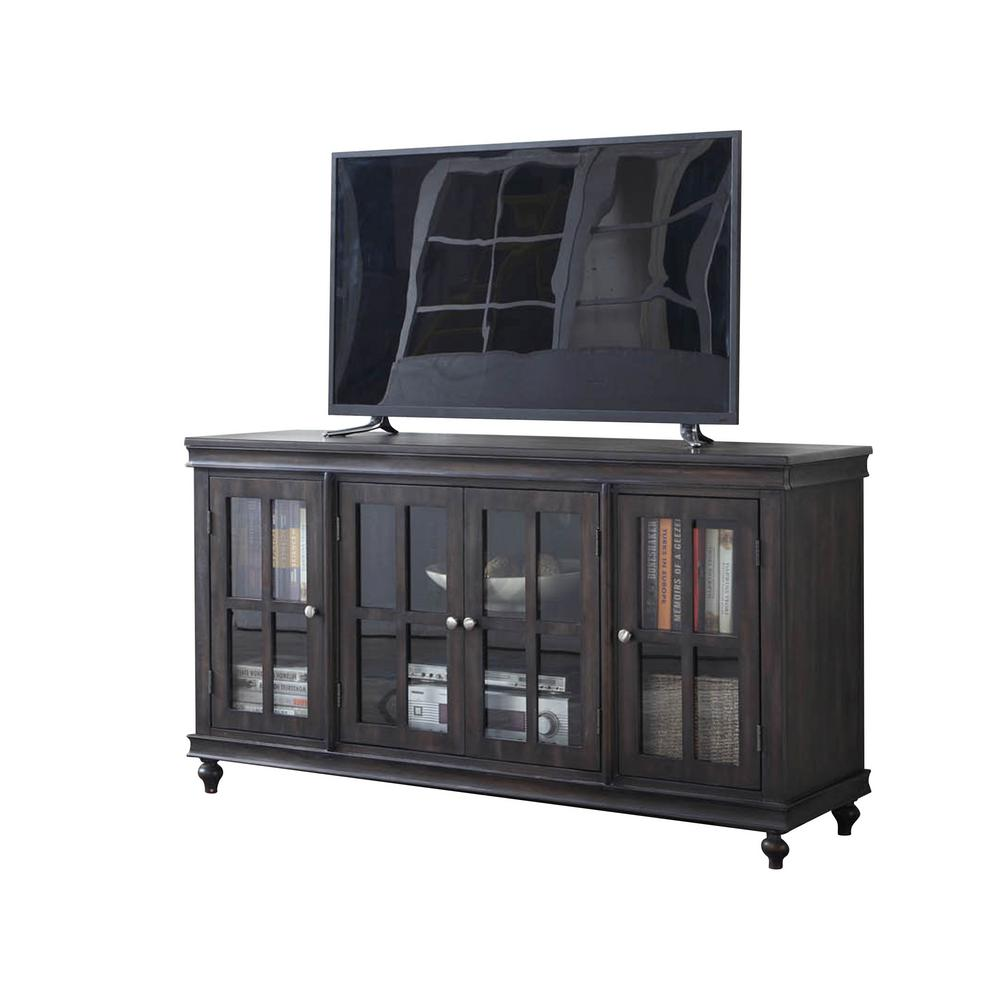 Crawford Burke Distressed Gray Tv Stand