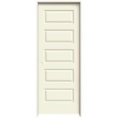 32 in. x 80 in. Rockport Vanilla Painted Right-Hand Smooth Molded Composite MDF Single Prehung Interior Door