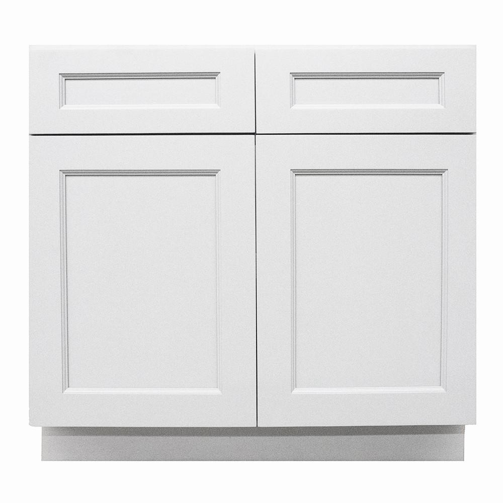 Modern Craftsmen - Ready to Assemble 33x34.5x24 in. 2-Door and 2-Drawer