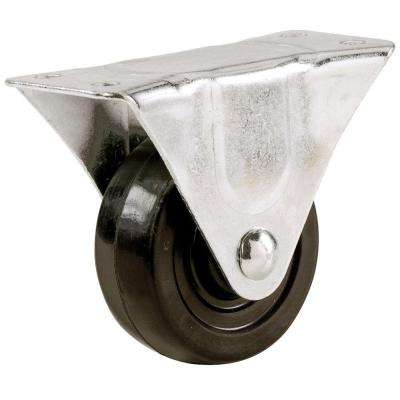 1-1/2 in. Soft Rubber Wheel Rigid Caster with 40 lb. Load Rating