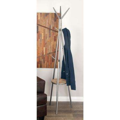 70in. Contemporary Iron Coat Rack