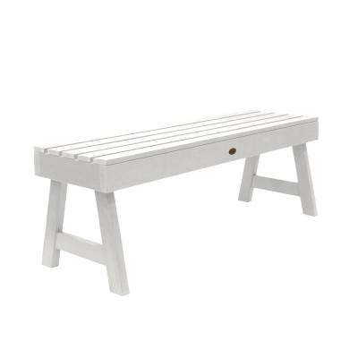 Weatherly 48 in. 2-Person White Recycled Plastic Outdoor Picnic Bench
