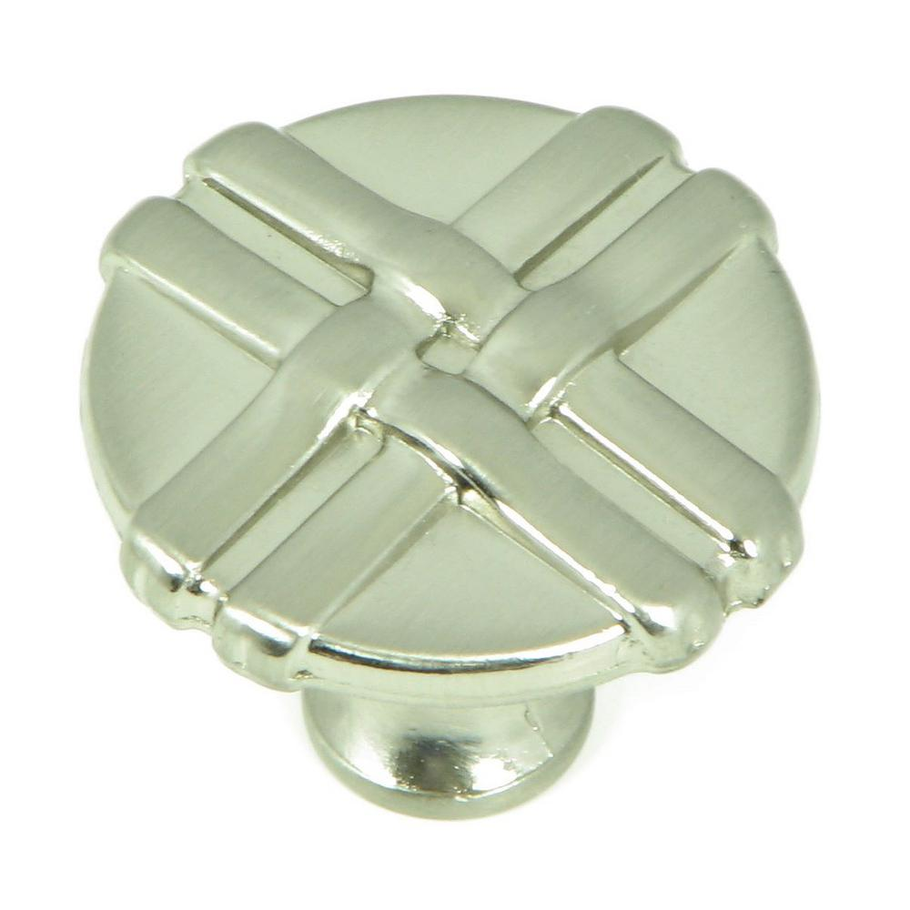 Stone Mill Hardware 1-3/8 in. Satin Nickel Weave Cabinet Knob (10 ...