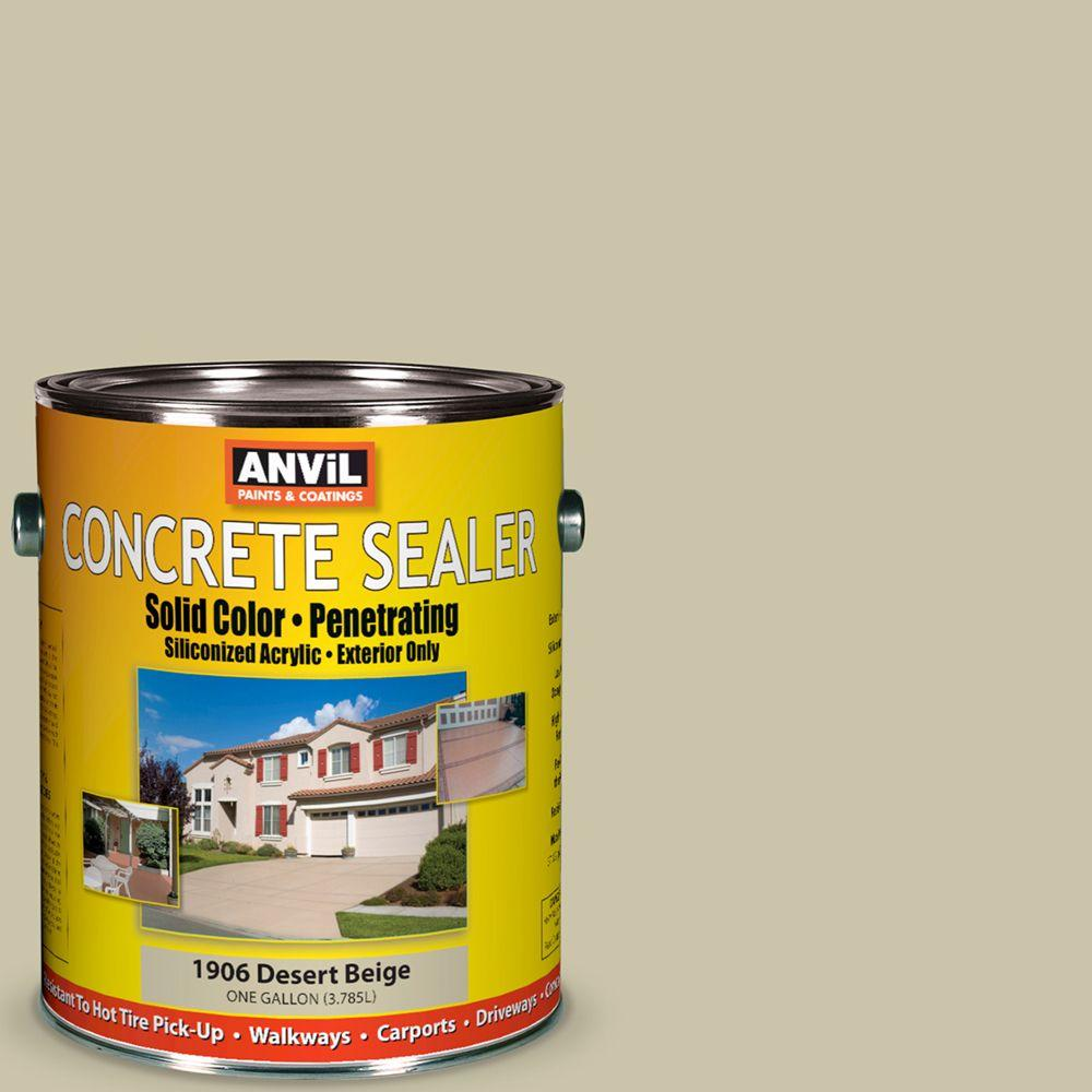 ANViL 1-gal. Desert Beige Siliconized Acrylic Solid Color Exterior Concrete Sealer-DISCONTINUED