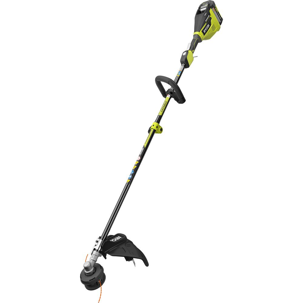 RYOBI RYOBI 40-Volt Lithium-Ion Brushless Electric Cordless Attachment Capable String Trimmer 4.0 Ah Battery and Charger Included