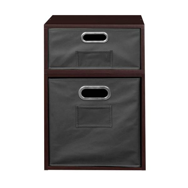 Regency 20 In H X 13 In W X 13 In D Truffle Wood 2 Cube Storage Organizer Hdchpc1f1htfhgy The Home Depot