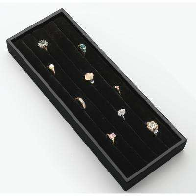 Black Velvet Ring Organizer