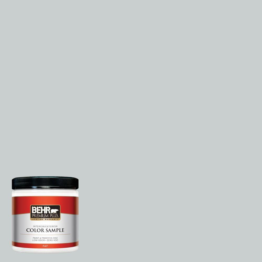 BEHR Premium Plus 8 oz. #PPF-17 Foggy Morn Interior/Exterior Paint Sample