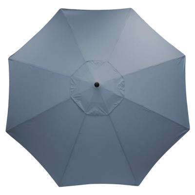11 ft. Aluminum Market Patio Umbrella in Sunbrella Spectrum Denim