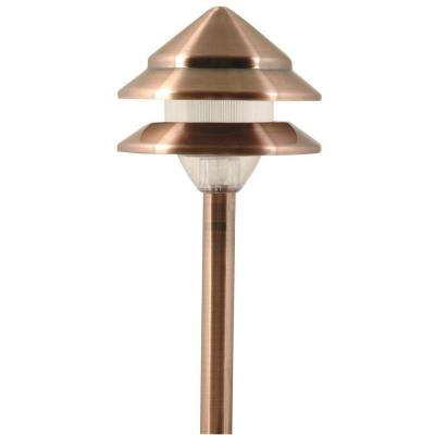 Marion-Style 2-Tier Low-Voltage 7-Watt Copper Metal Outdoor Landscape Path Light