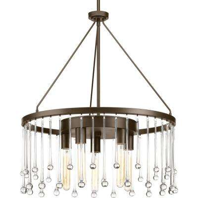 Sway Collection 5-light Antique Bronze Chandelier
