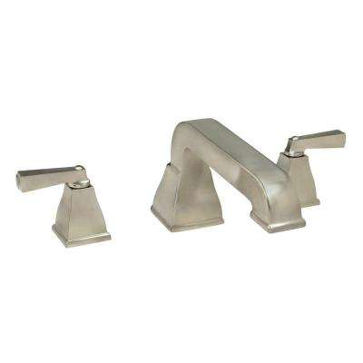 Town Square 2-Handle Deck-Mount Roman Tub Faucet in Brushed Nickel