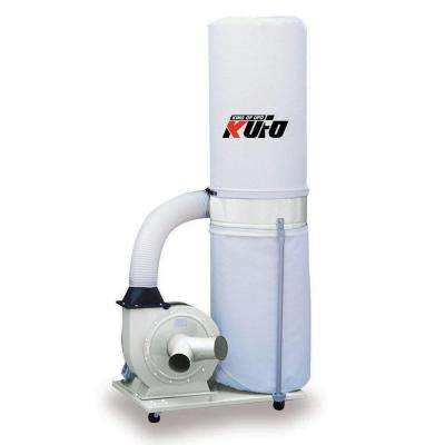 2 HP 1550 CFM 1 Phase 220-Volt Vertical Bag Dust Collector