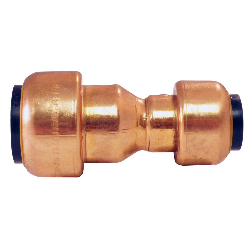 Tectite 3/4 in. x 1/2 in. Copper Push-to-Connect Reducer Coupling