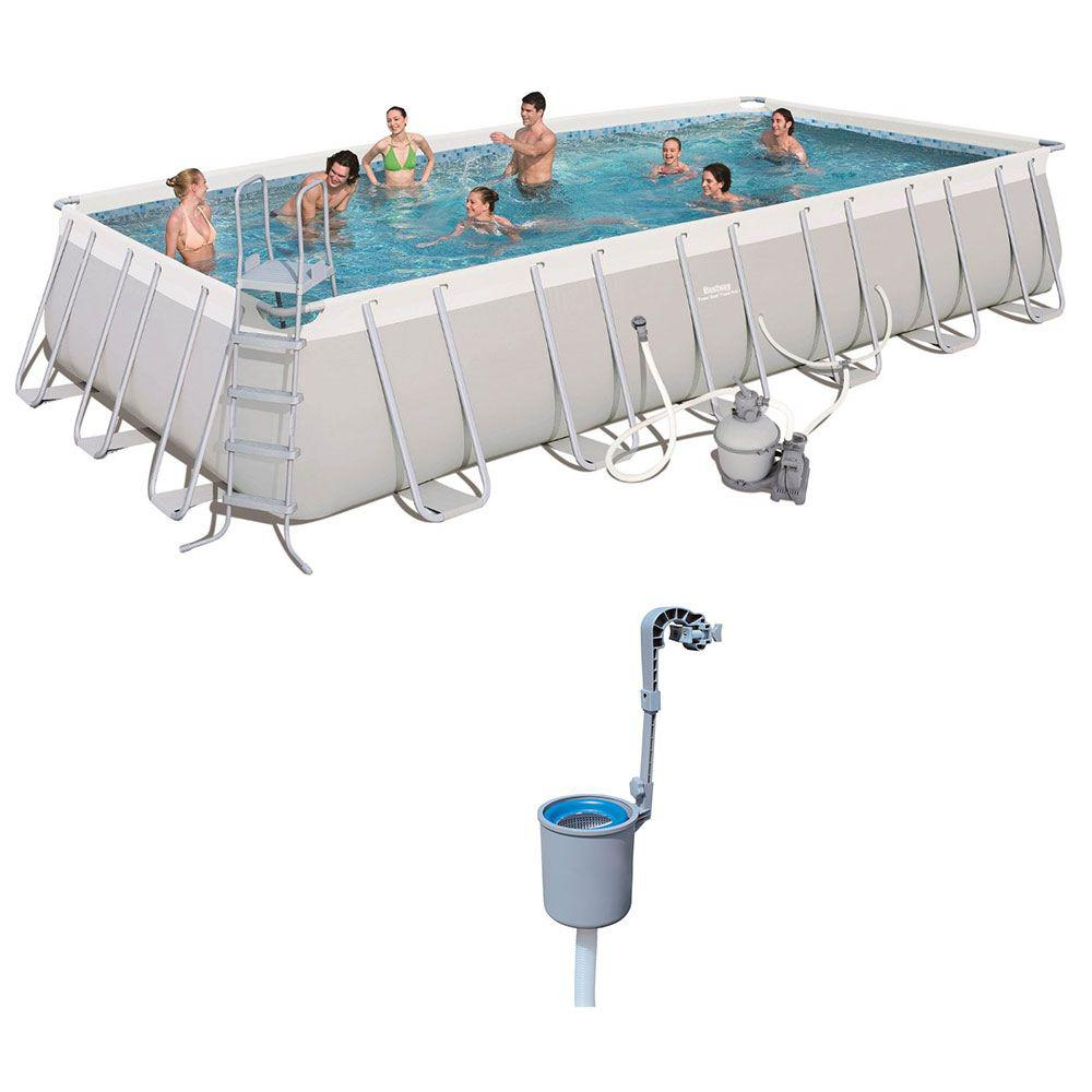 Power 16 ft. x 10 ft. x 3.5 it. Above Ground Pool Set with Pump and  Maintenance Kit