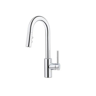 Stellen Single-Handle Bar Faucet with Pull-Down Sprayer in Polished Chrome