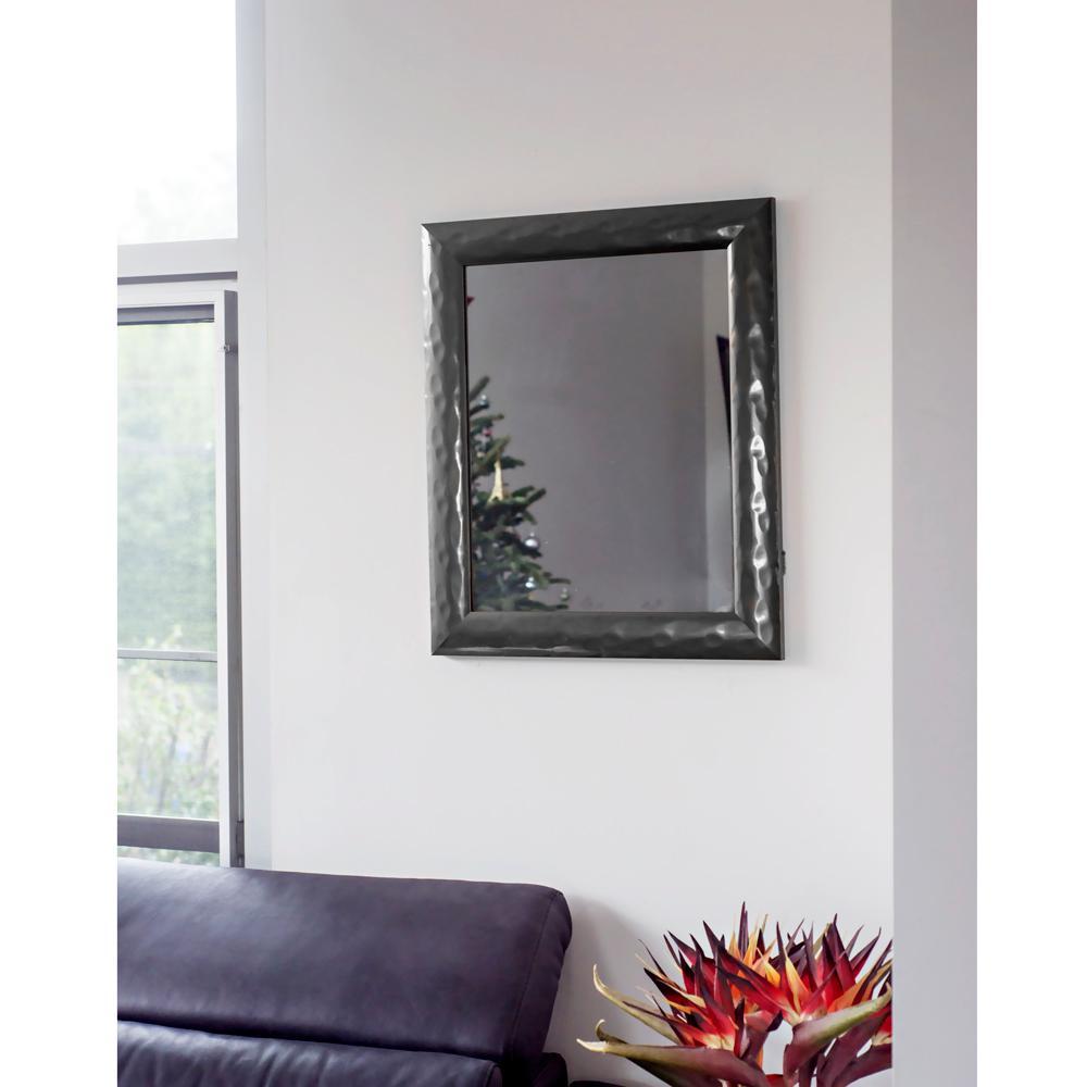 24.75 in. x 20.75 in. Slate Metallic Impressions Mirror