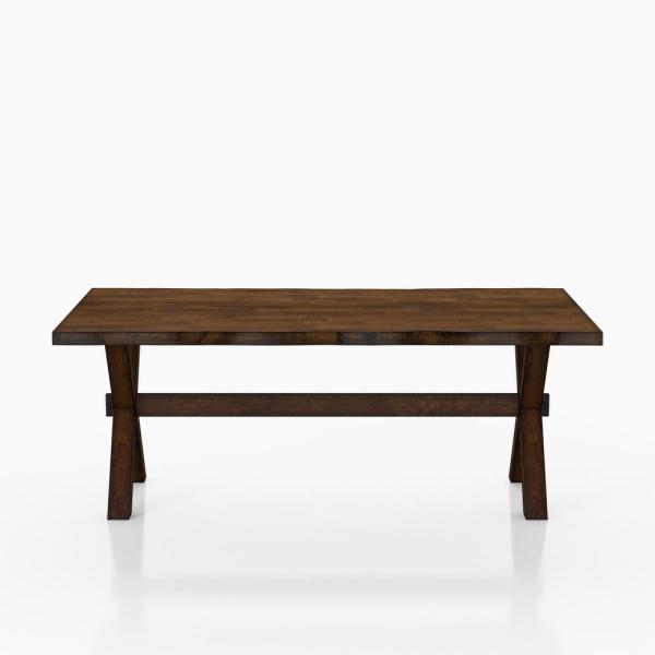 18.25 in. H Coupla Walnut Coffee Table