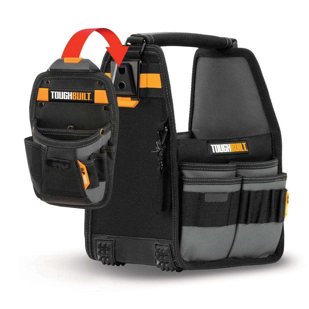Toughbuilt 8 In Tote And Pouch With Cliptech 31 Pockets Black