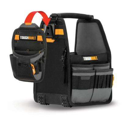 8 in. Tote and Pouch with ClipTech with 31-Pockets in Black