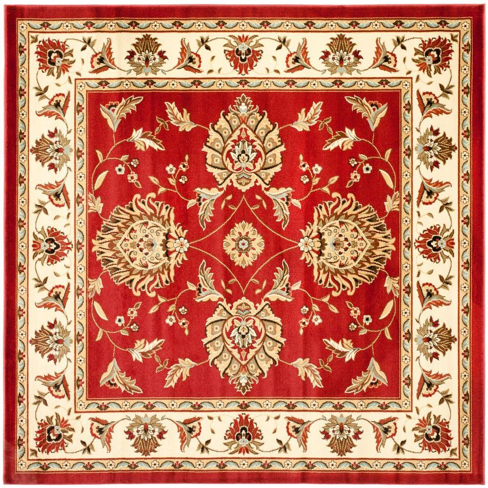 Safavieh Lyndhurst Red/Ivory 6 ft. 7 in. x 6 ft. 7 in. Square Area Rug
