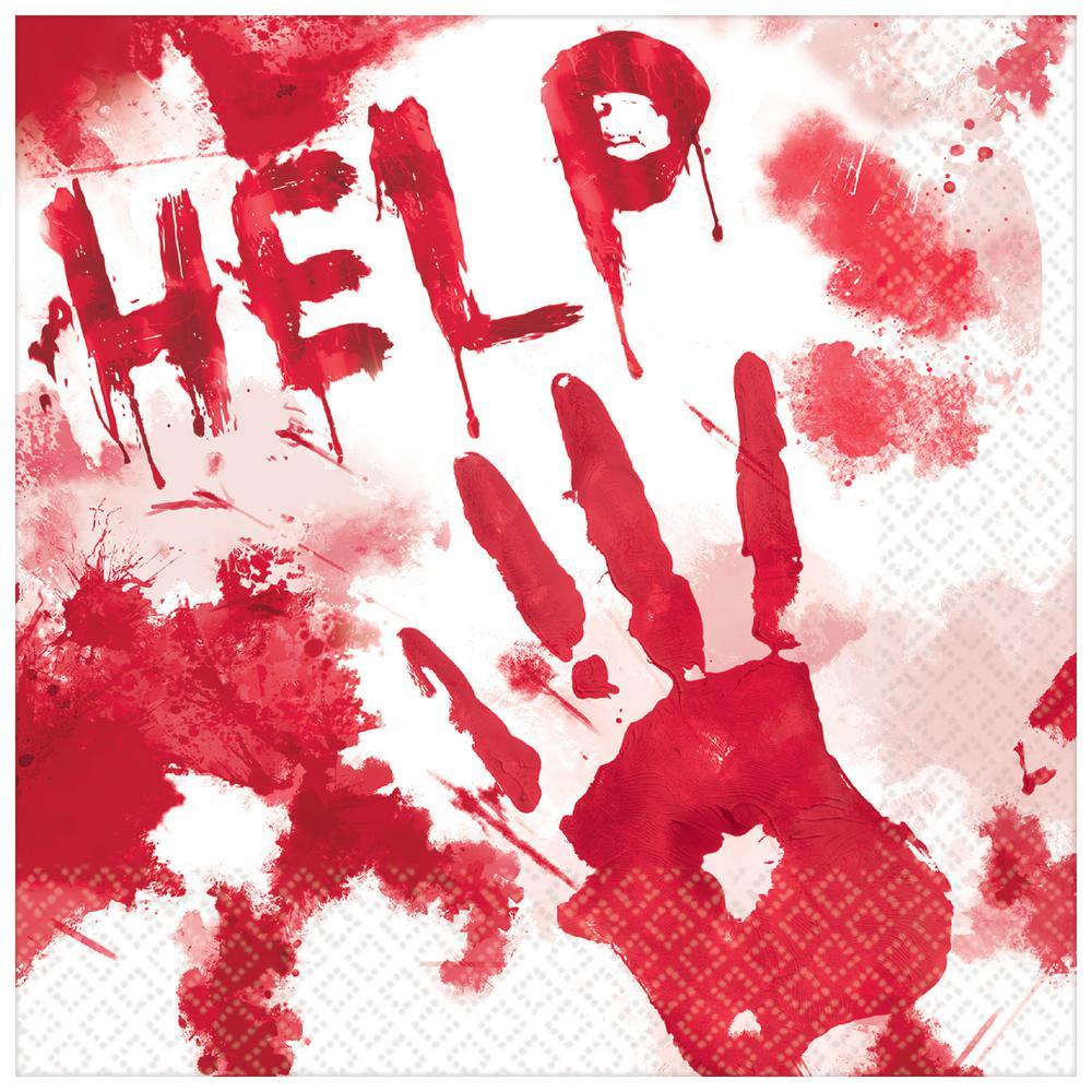 Amscan 6.5 In. X 6.5 In. Halloween Blood Splattered Lunch