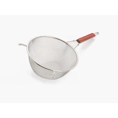 8 in. Stainless Steel Strainer with Wooden Handle