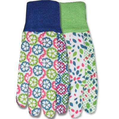 Print Jersey with Dot Palm (2-Pack)