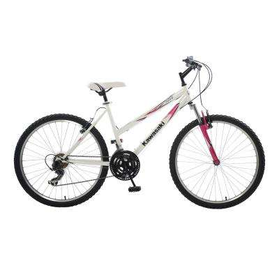K26G Hardtail Mountain Bike, 26 in. Wheels, 18 in. Frame, Women's Bike in White/Pink