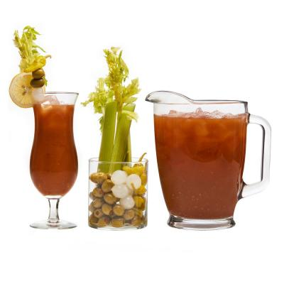 Modern Bar 10-Piece Clear Glass Bloody Mary Entertainment Set
