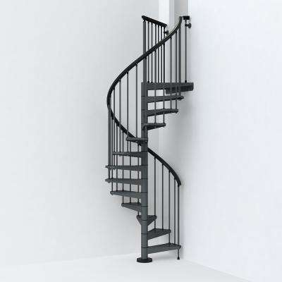 SKY030 47 in. Iron Grey Spiral Staircase Kit